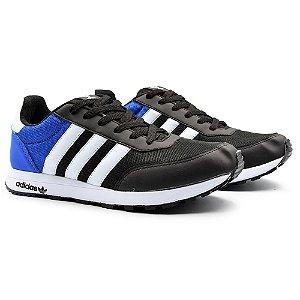 Tênis Masculino Adidas New Racer 2 - Preto/Azul