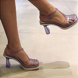 Sandália Salto Alto Feminina Melissa Vixen - Branco