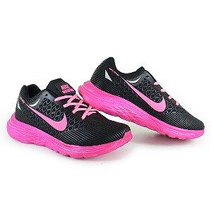 Tênis Esportivo Caminhada Feminino Nike Zoom - Preto/Rosa