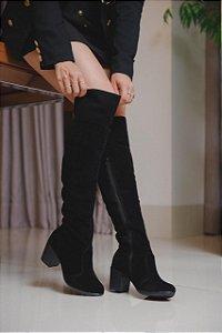 Bota Botinha Cano Alto Coturno Over The Knee Com Salto Ana Amaral Moda Inverno 2020