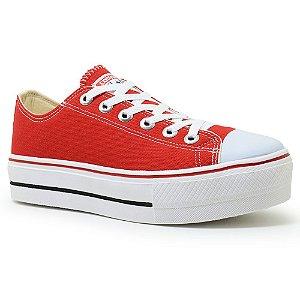 Tênis Feminino Plataforma Converse All Star Lona - Vermelho