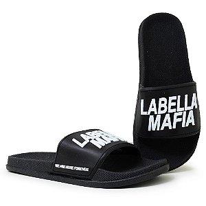 Chinelo Feminino Labellamafia Slide - Preto/Branco
