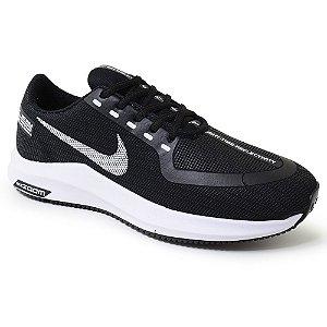 Tênis Masculino Caminhada Esportivo Nike Zoom - Preto/Branco