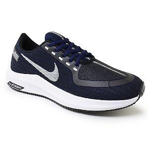 Tênis Masculino Caminhada Esportivo Nike Zoom - Marinho/Branco
