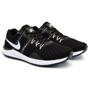Tênis Masculino Nike Just Do It Lançamento 2021 - Preto/Branco