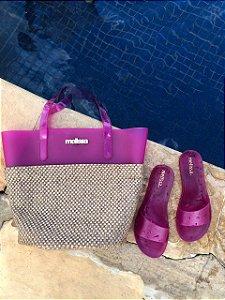 Kit Praia Melissa – Bolsa + Chinelo Beach Verão – Lançamento 2021 - Roxo