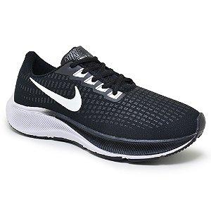 Tênis Masculino Caminhada Esportivo Nike Air Zoom Pegasus 37 - Preto/Branco