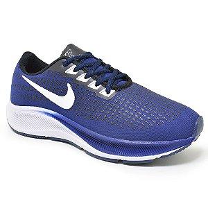 Tênis Masculino Caminhada Esportivo Nike Air Zoom Pegasus 37 - Azul Marinho/Branco
