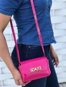 Bolsa Feminina de Ombro Schutz Mini Cross Bag - Pink