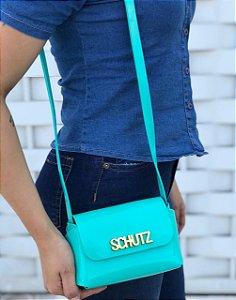 Bolsa Feminina de Ombro Schutz Mini Cross Bag - Verde Água