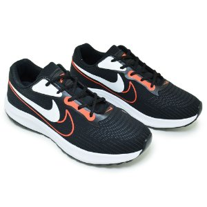 Tênis Masculino Caminhada Esportivo Nike Duo - Preto/Laranja