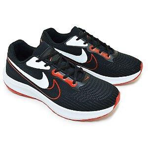 Tênis Masculino Caminhada Esportivo Nike Duo - Preto/Vermelho