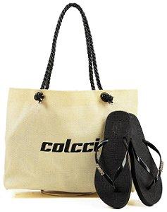 Kit Colcci – Bolsa + Chinelo – Lançamento 2021 - Preto