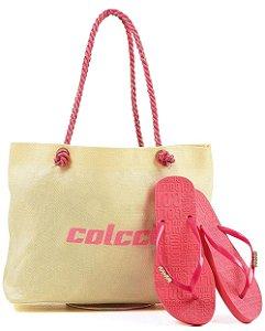 Kit Colcci – Bolsa + Chinelo – Lançamento 2021 - Rosa