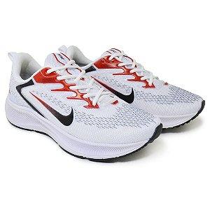 Tênis Masculino Caminhada Esportivo Nike Zoom Winflo 7- Branco/Vermelho