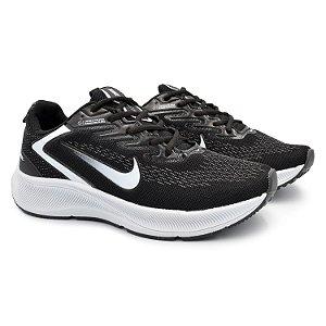 Tênis Masculino Caminhada Esportivo Nike Zoom Winflo 7- Preto/Branco