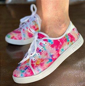 Sapatênis Tênis Feminino Casual Adidas - Tie Dye Pink