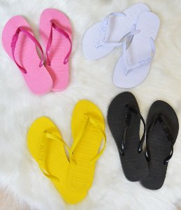 Kit 4 pares - Chinelo Rasteirinha Santa Lolla