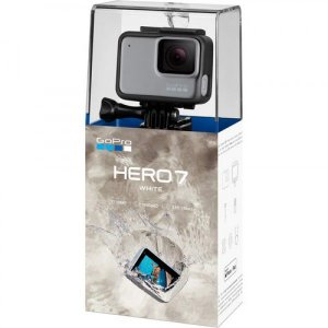 Filmadora GoPro Hero 7 White | 12MP | 4K | com Wi-Fi e Comando de Voz - Branca
