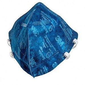 Máscara de Proteção PFF2 N95 Modelo 9820 3M Azul
