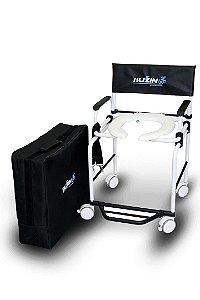 Cadeira de Banho e Higiênica Desmontável em Aluminio Capacidade de 120 Kg