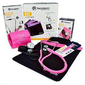 Kit Acadêmico para Enfermagem Fisioterapia Medicina Incoterm Rosa