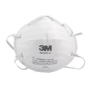 Mascara Proteção Respirador 3m Pff2 N95 Sem Válvula 8801 Pacote COM 20 UNIDADES