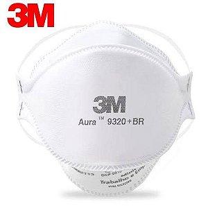 Máscara AURA 9320+BR de Proteção Respirador 3m Pff2 N95 Sem Válvula