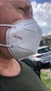 Máscara de Proteção KN95 PFF2 sem Válvula 3D Embalada Individualmente