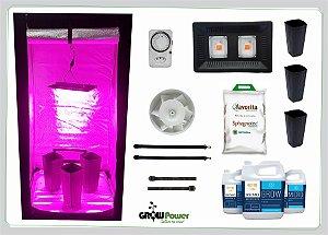 KIT LED EASY TO GROW 80x80x160 - 100w 220v