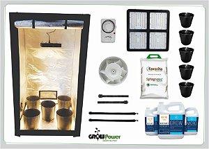 KIT LED EASY TO GROW 120x120x200 – 240w Quantum Board Bivolt