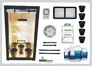 KIT LED EASY TO GROW 120x120x200 – 120w Samsung Quantum Board Bivolt