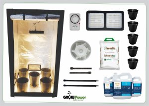 KIT LED EASY TO GROW 140x140x200 – 120w Quantum Board Bivolt