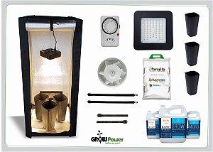 KIT LED EASY TO GROW 60x60x140 - 60w Quantum Board Bivolt