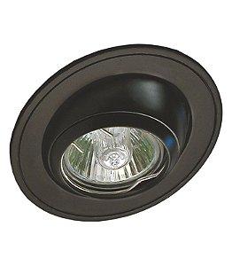 Spot de Embutir Olho de Boi sem lâmpada - Preto