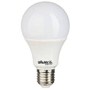 Lâmpada LED Bulbo 9W 3000K (Amarela) - GALAXY LED - 2 anos de garantia.