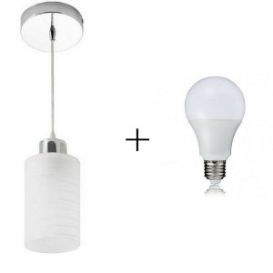 Kit Pendente Track 1 + Lâmpada LED 5w - Startec