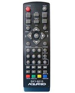 Controle Remoto Compatível com Conversor Aquário Dtv4000 Dtv5000, 6000, 7000