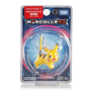 Pikachu Battle Pose Figure colecionável Pokémon Moncolle-ex - Original Takara Tomy