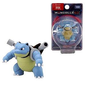 Blastoise Figure colecionável Pokémon Moncolle-ex - Original Takara Tomy