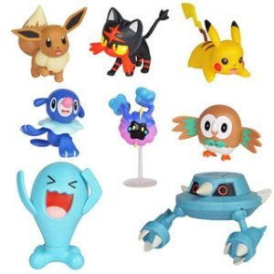 Kit com 8 figuras Pokémon Battle Figure Pack