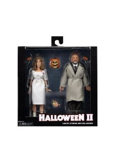 Pack Halloween II Laurie Strode e Dr. Loomis Versão Clothed - Neca