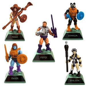 Kit 5 personagens Heman Masters Of The Universe - Mega Construx