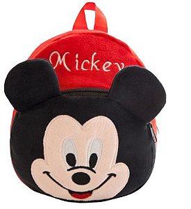 Mochila Infantil Plush Mickey Mouse - Escolar