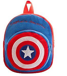 Mochila Infantil Plush Capitão América - Escolar
