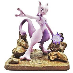 Diorama Mewtwo Pokémon - Animes Geek