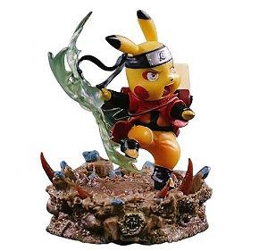 Diorama Pikachu Versão Naruto Rasen Shuriken - Pokémon