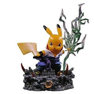 Diorama Pikachu Versão Sasuke Chidori - Pokémon