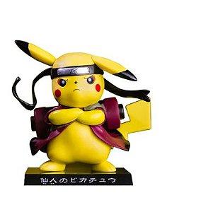 Diorama Pikachu Versão Naruto Modo Sábio - Pokémon