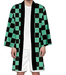 Kimono Tanjiro Kamado Demon Slayer Kimetsu No Yaiba - Adulto